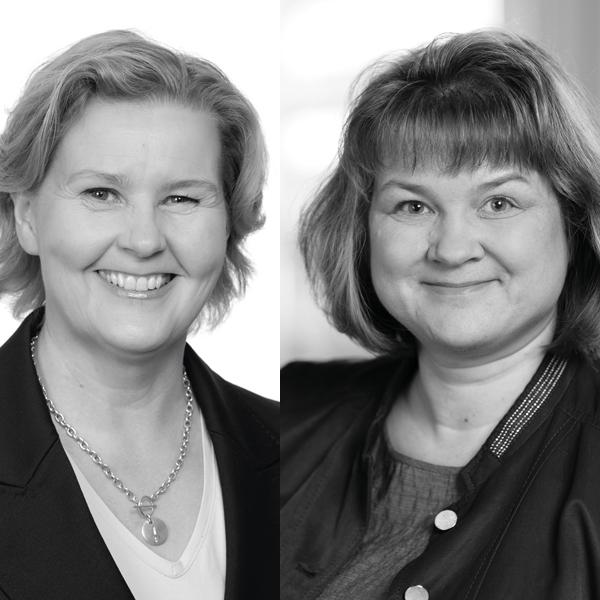 Anu Kärkkäinen ja Johanna Aho